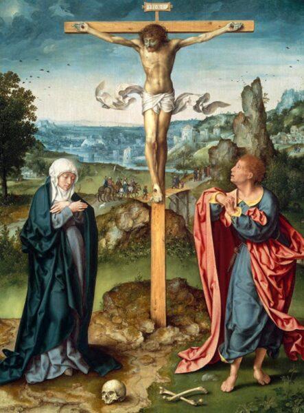 Crucifixion, 1525 - Joos Van Cleve (c. 1485–c. 1541) use