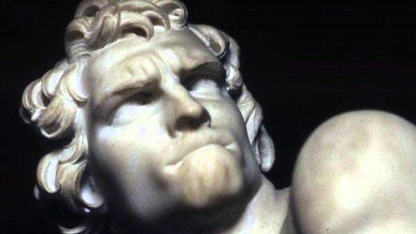David's face by Bernini
