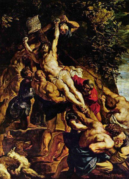 Raising of the Cross (1610-1611) by Peter Paul Rubens (1577-1640)