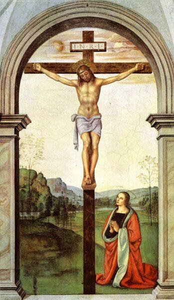 The Crucifixion (1493 - 1496) Pietro Perugino (c. 1445-1523) use