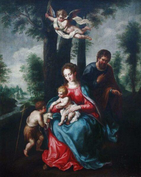 Unknown Belgian Artist - Madonna With Child Baroque